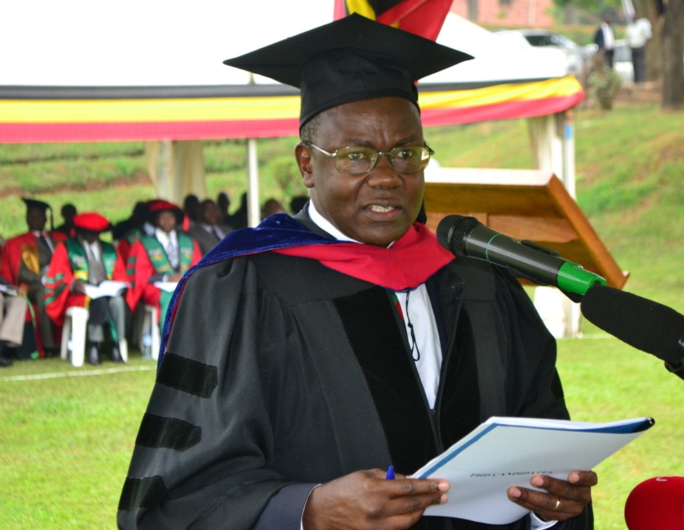 - Prof. Bernard Bashaasha presenting Graduands for award of degrees and at the 69th Graduation Ceremony