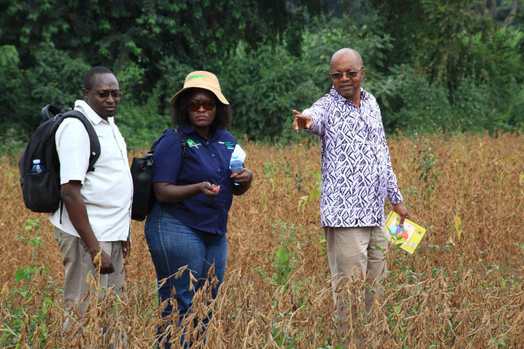 - Prof. Phinehas Tukamuhabwa (3rd) during a field day