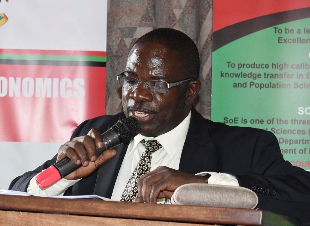 - Director NEMA Dr. Daniel J Babikwa delivering the Keynote address
