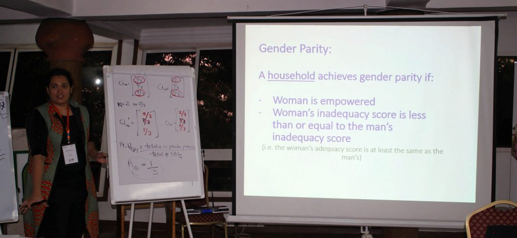 - IFIPRI's Audrey Pereira delivering her lecture