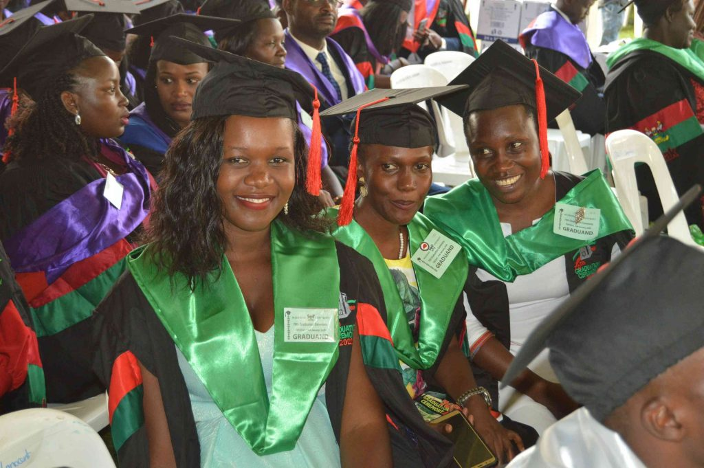 - Some of the CAES Masters students during the graduation ceremony