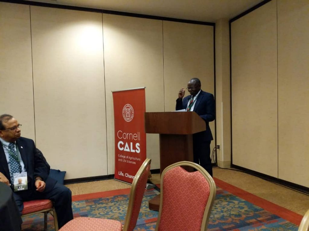 - Prof. Bernard Bashaasha, at one of the events at The World Food Prize event Des Moines Iowa, USA
