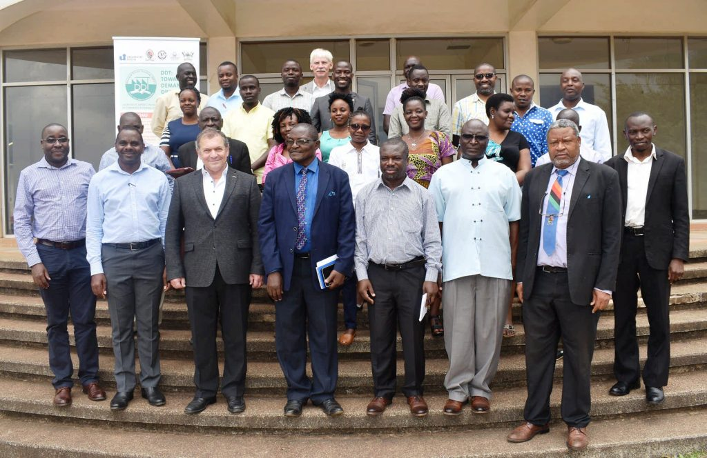 - Participants pose for a group photo during break session of Demand Driven Teaching (DDT) project meeting